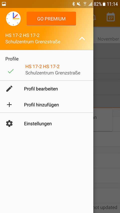 Screenshot UntisMobile Profile